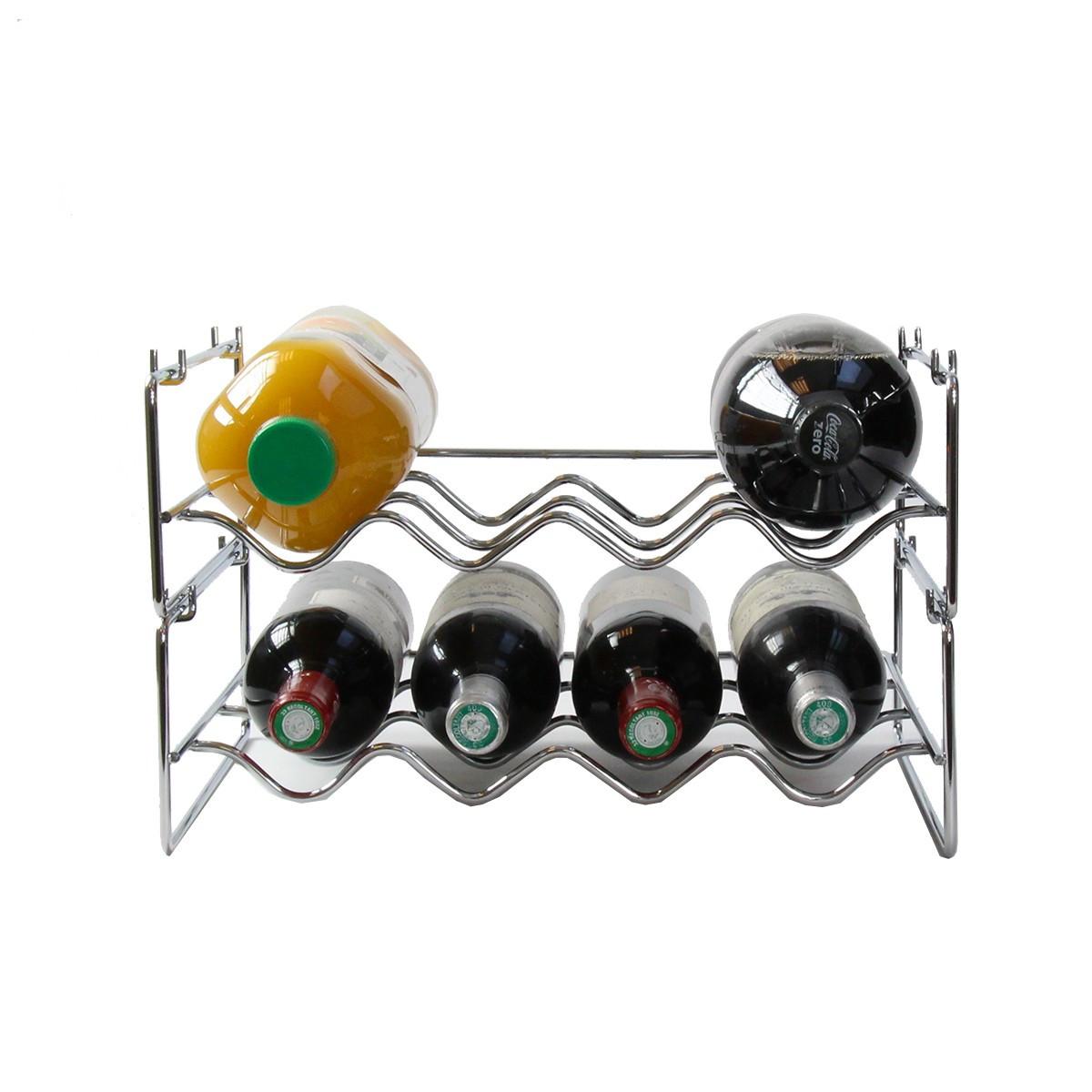 Range-bouteilles empilable pour 4 bouteilles - Rangement Cave