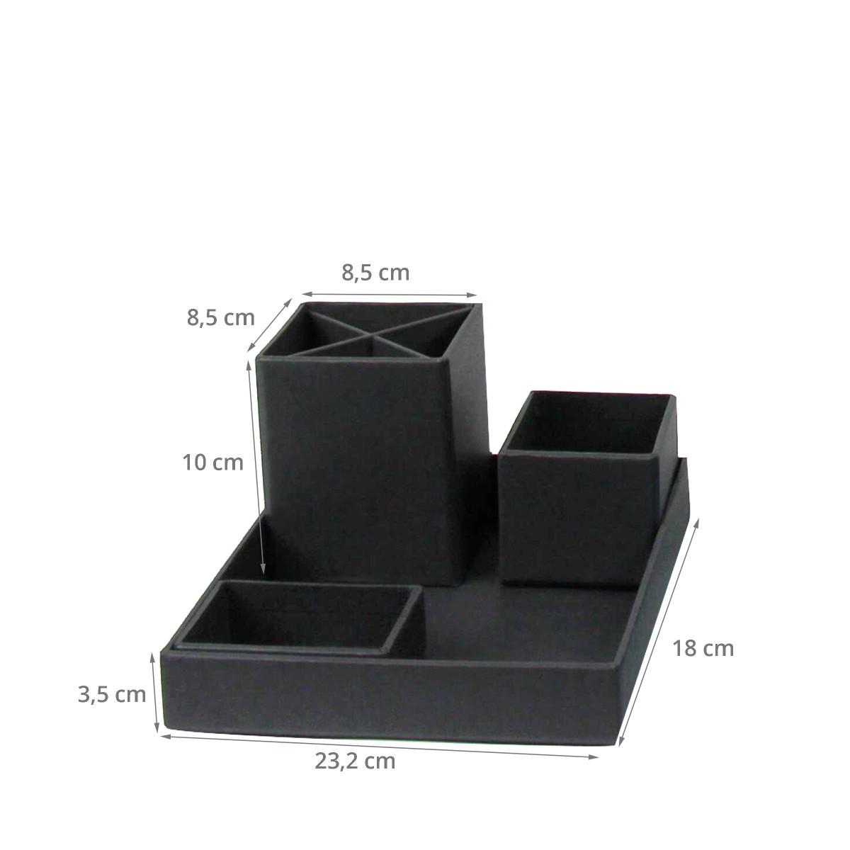 organiseur de bureau carton gris. Black Bedroom Furniture Sets. Home Design Ideas