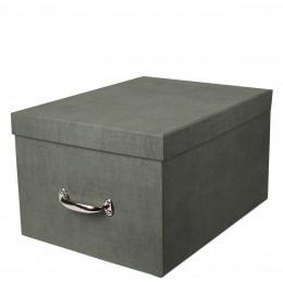 Boîte de rangement en carton gris. Taille XL