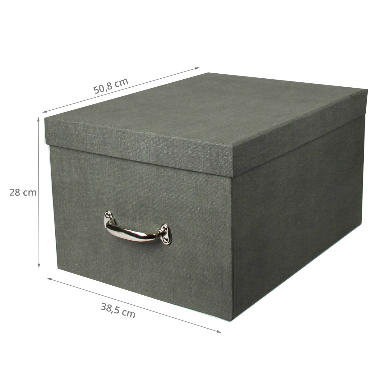 grande bo te de rangement en carton gris solide et l gante. Black Bedroom Furniture Sets. Home Design Ideas