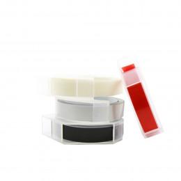 4 rubans pour étiqueteuse manuelle rouge et gris