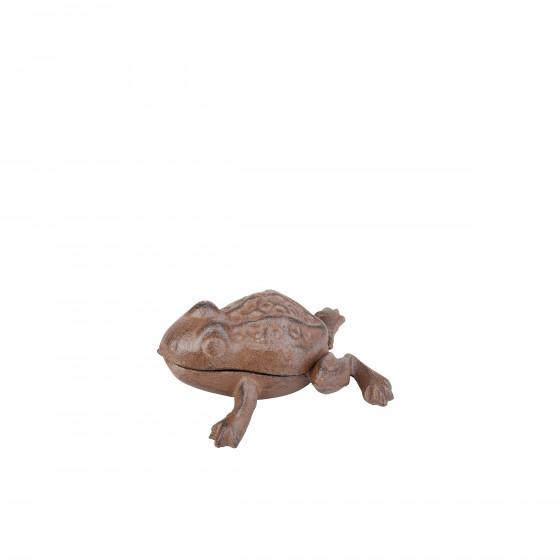 Cache clé grenouille en fonte