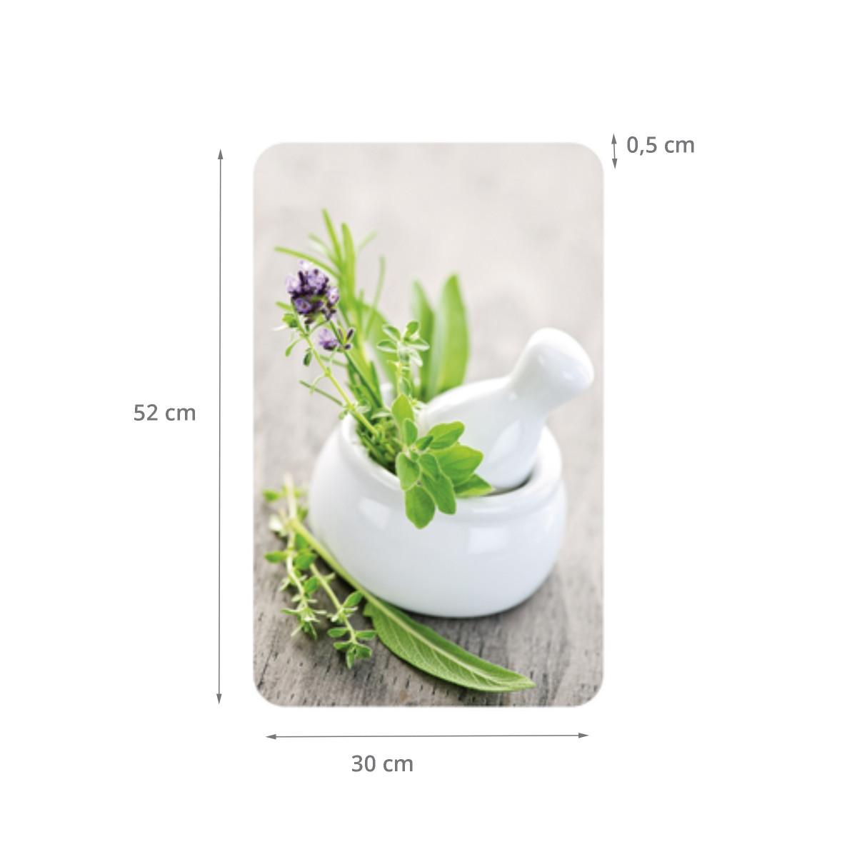 Planches couvre plaques de cuisson motif herbes aromatiques for Taille plaque de cuisson