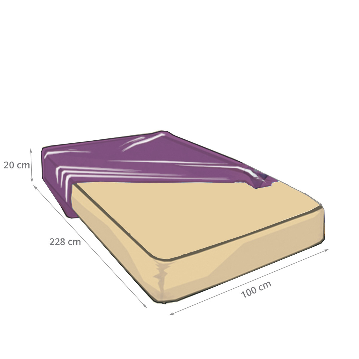 Housse de protection matelas 1 place - Dimension standard lit 2 places ...