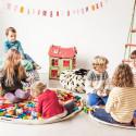 Tapis sac à jouets d'enfants fuchsia