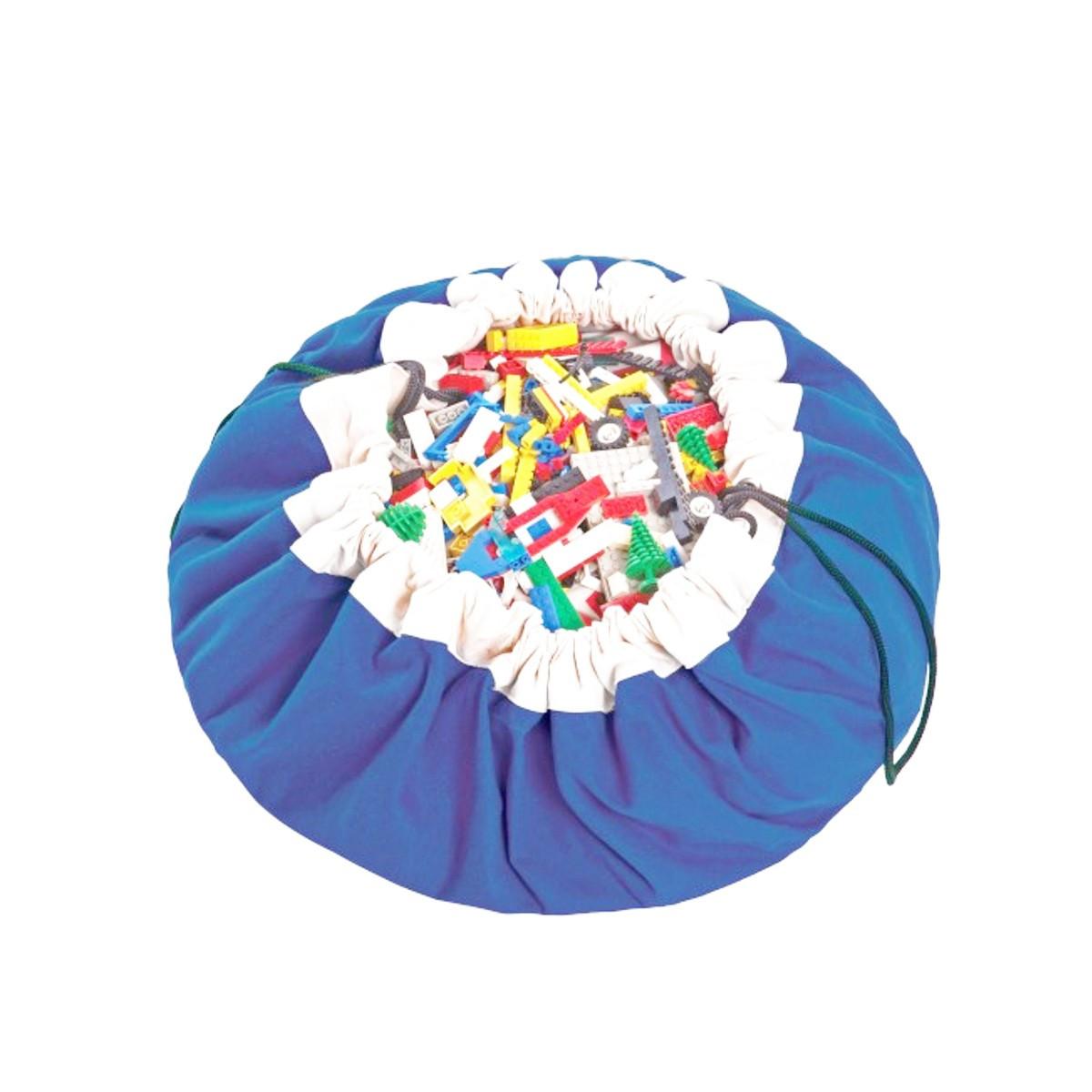 Tapis de rangement jouets d 39 enfants bleu - Rangement pour jouets ...