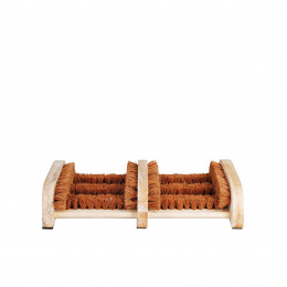 Brosse paillasson en bois et coco