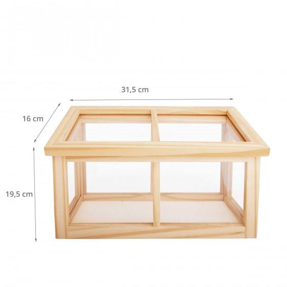 mini serre pour enfant bois fsc et plexiglas. Black Bedroom Furniture Sets. Home Design Ideas