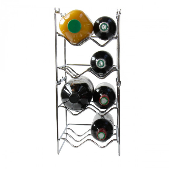 Range-bouteilles étroit et empilable pour 4 bouteilles