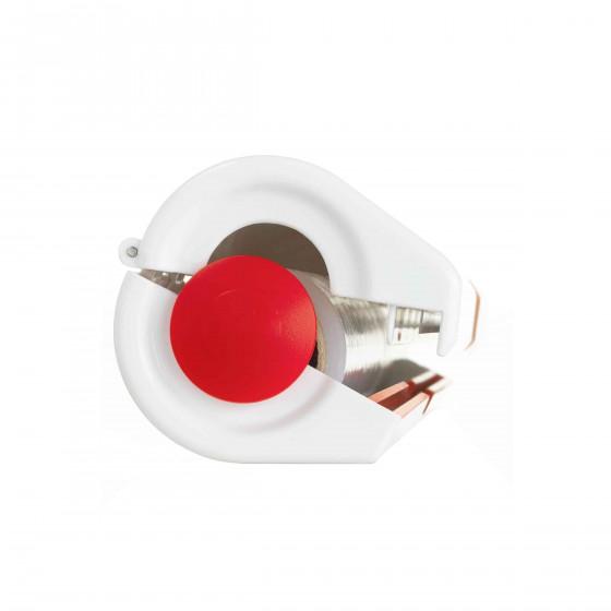 Coupe film de cuisine blanc et rouge