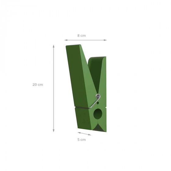 Patère intérieure et extérieure en forme de pince verte