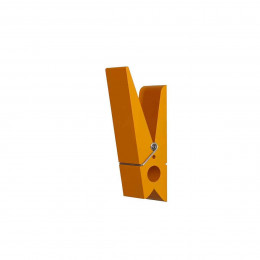 Patère intérieure et extérieure en forme de pince orange