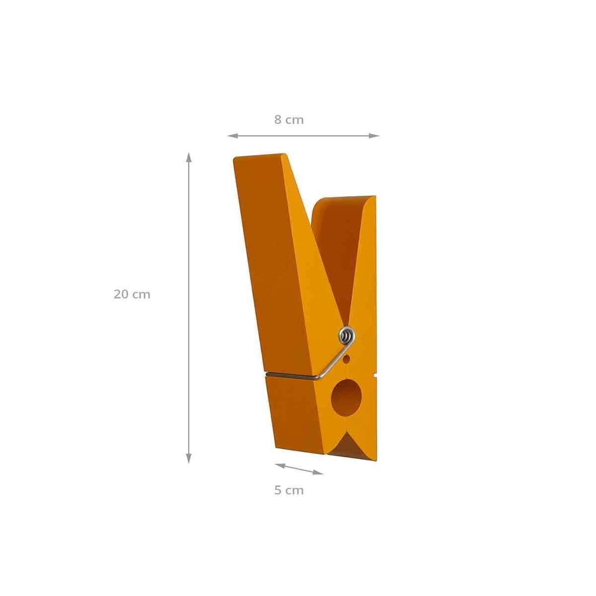 Patere exterieur et interieur en forme de pince orange for Taille porte interieure