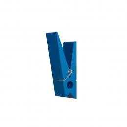 Patère intérieure et extérieure en forme de pince bleu