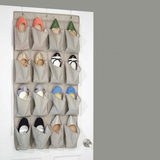 Range chaussures suspendre en tissu 16 poches - Range chaussures a suspendre ...