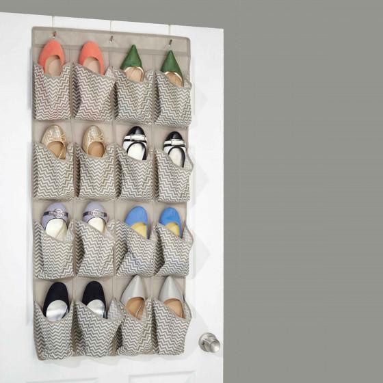 range chaussures suspendre en tissu 16 poches. Black Bedroom Furniture Sets. Home Design Ideas