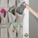 Range chaussures à suspendre en tissu