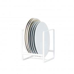 Range petites assiettes vertical en métal blanc