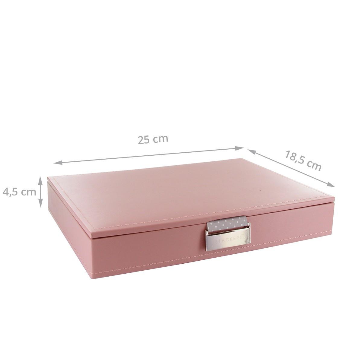 bo te bijoux rose avec int rieur gris rangement bijoux. Black Bedroom Furniture Sets. Home Design Ideas