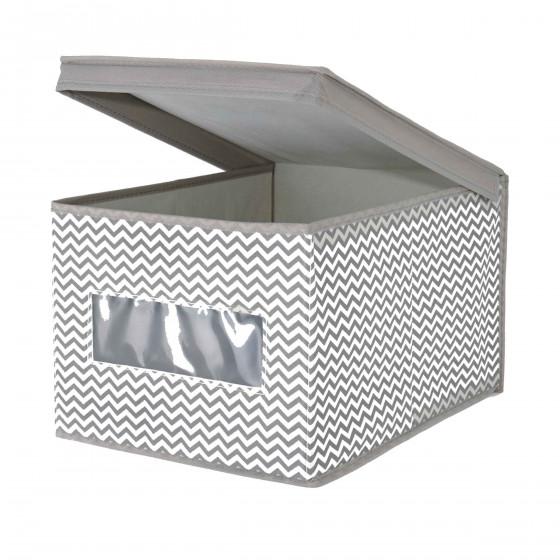 Boîte de rangement en tissu avec fenêtre M