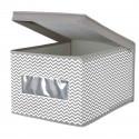 Boîte de rangement en tissu avec fenêtre L