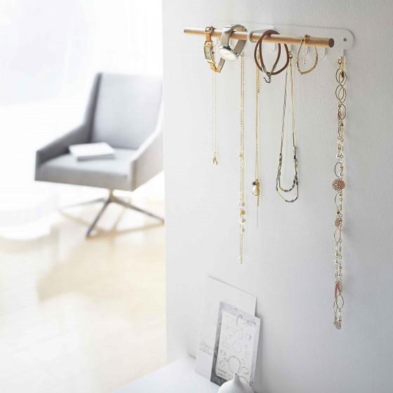 Support mural pour bijoux - rangement colliers