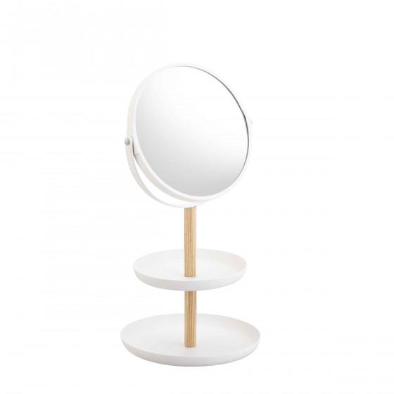 Vide poche pour bijoux avec miroir design - Miroir avec rangement bijoux ...