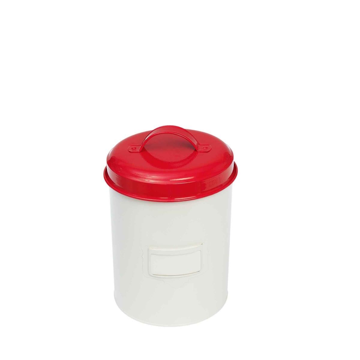 bo238te de cuisine en m233tal rouge r233tro