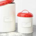 Boîte de cuisine en métal rouge 1 Litre