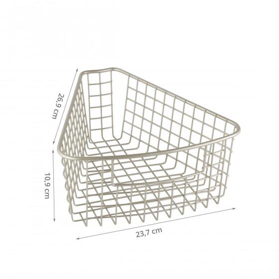 Panier métallique pour rangement placard d'angle M