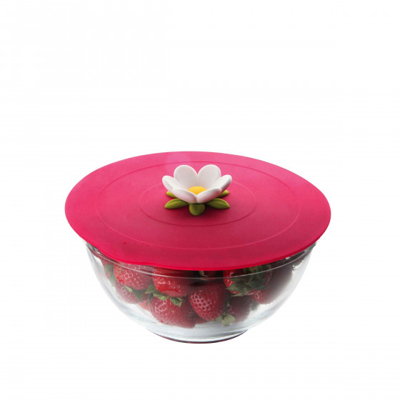 Couvercle en silicone framboise S