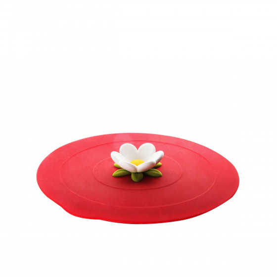 Couvercle alimentaire en silicone rouge L