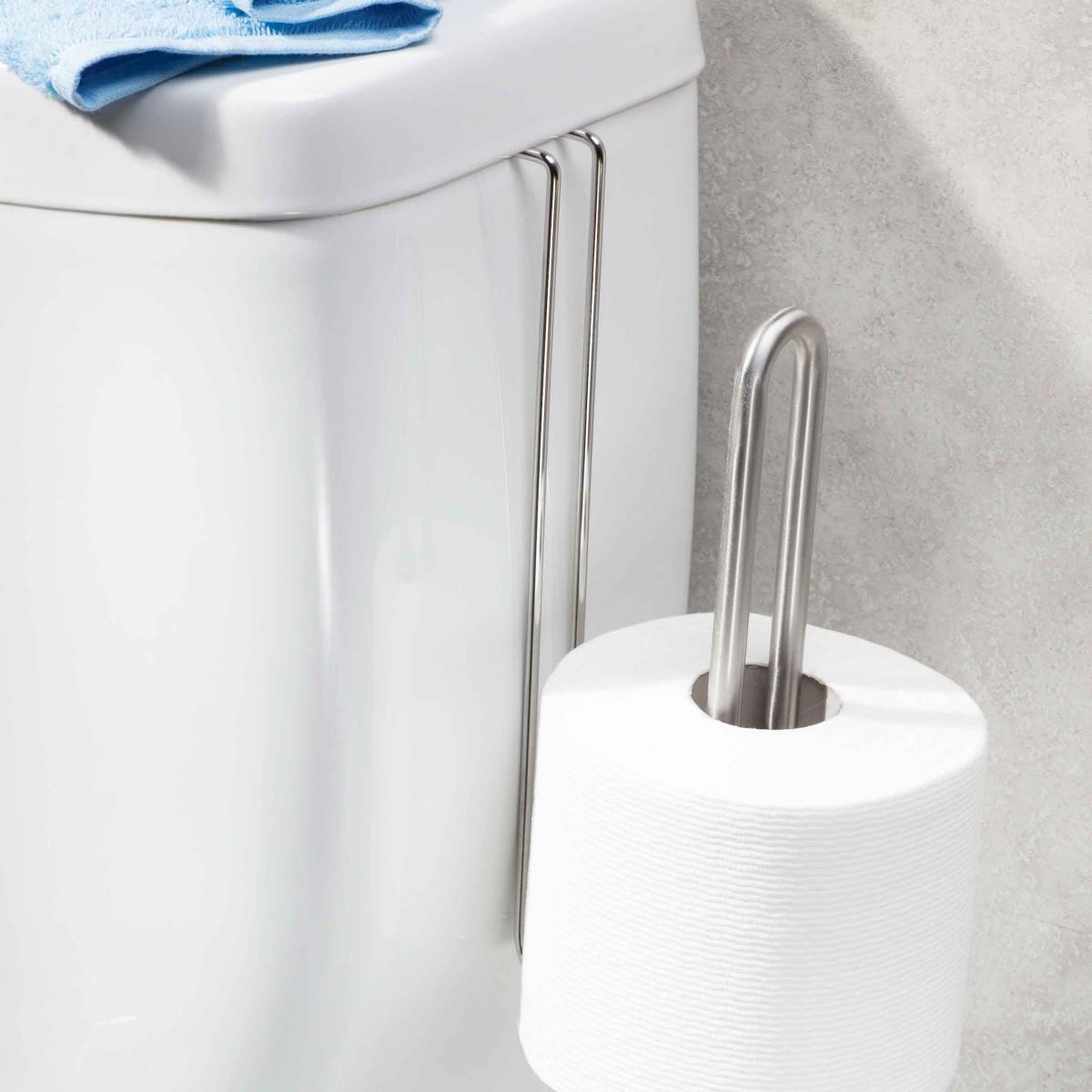 R servoir de papier toilette suspendre 2 rouleaux for Range rouleau papier toilette