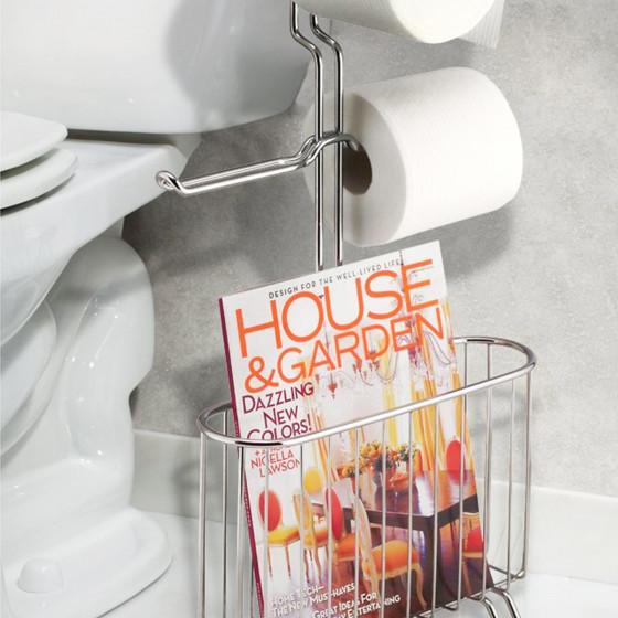 Porte revue r serve de papier toilette accessoire wc - Porte revue toilette ...