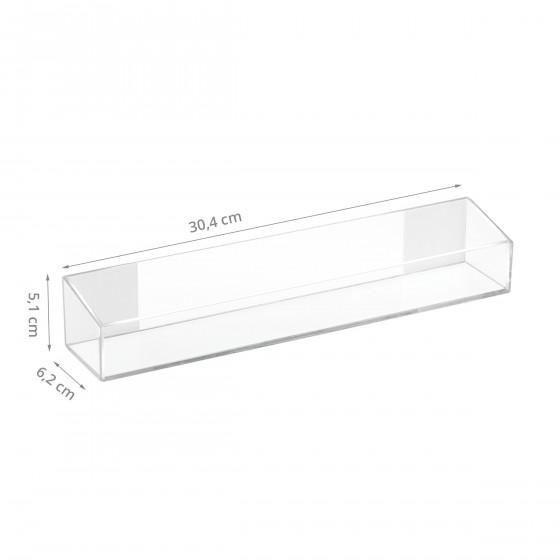 Boîte de rangement adhésive en acrylique transparent