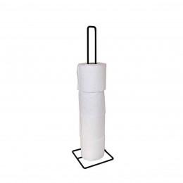 Stockeur de papier toilette en métal noir