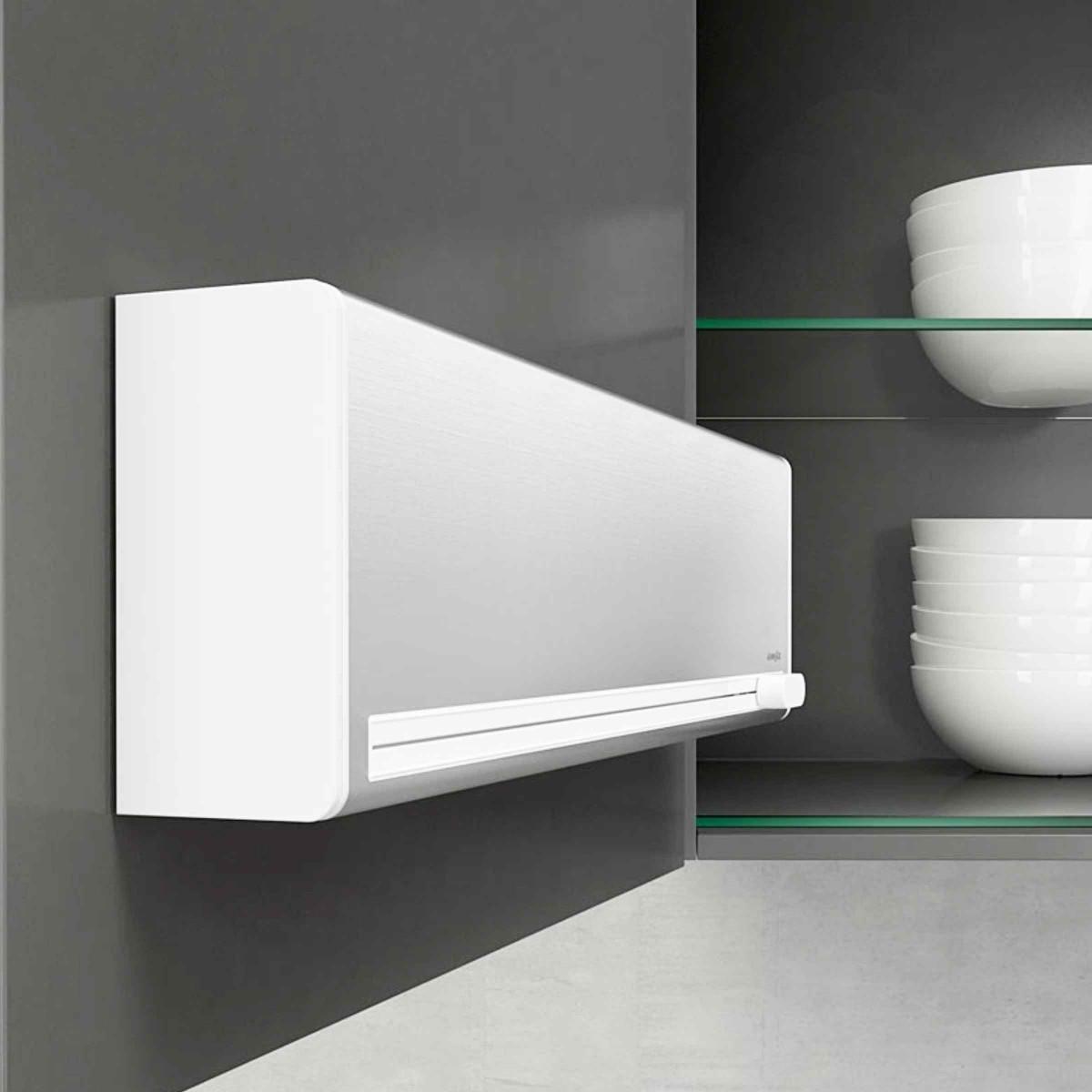 d rouleur de cuisine mural pour 2 rouleaux rangement cuisine. Black Bedroom Furniture Sets. Home Design Ideas
