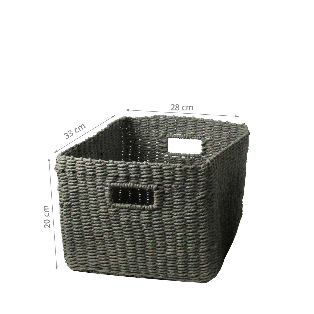 panier de rangement gris rectangulaire. Black Bedroom Furniture Sets. Home Design Ideas