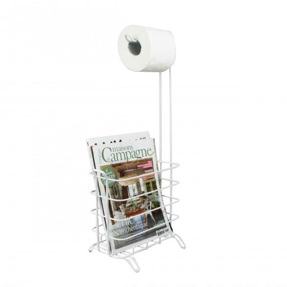 D rouleur papier toilette et brosse wc m tal chrom 20 - Range rouleau papier toilette ...
