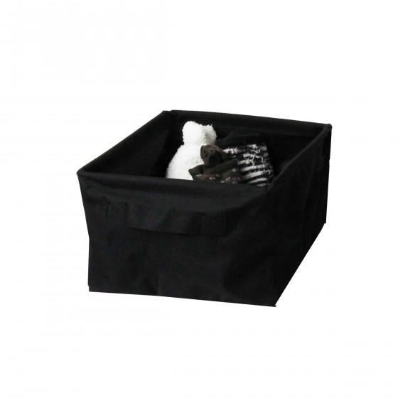 Panier de rangement en tissu noir