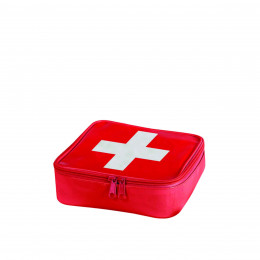 Trousse à pharmacie en PVC brillant rouge