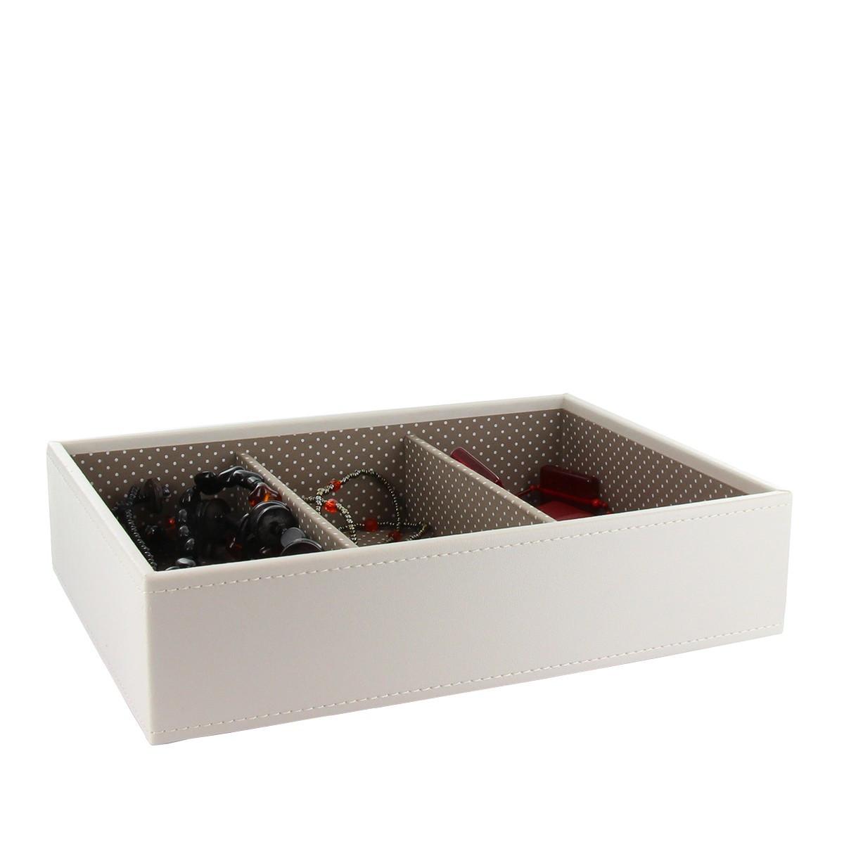 plateau de rangement pour bijoux 3 compartiments. Black Bedroom Furniture Sets. Home Design Ideas