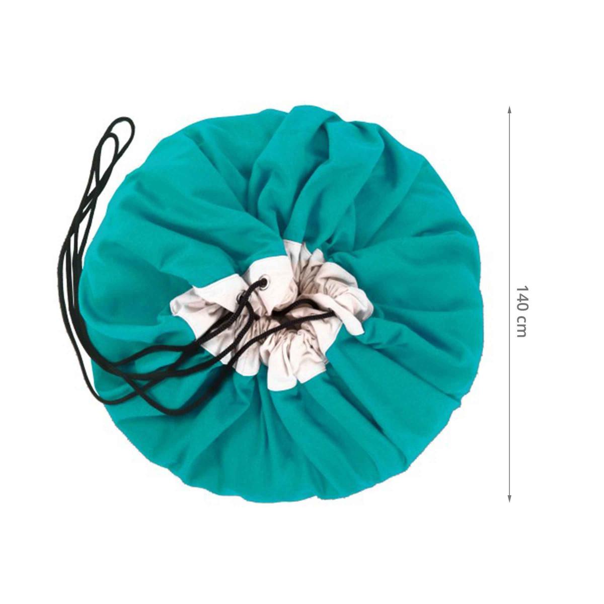 tapis de jeu rangement jouets turquoise. Black Bedroom Furniture Sets. Home Design Ideas