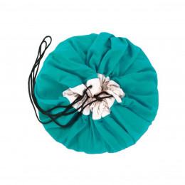 Tapis de jeu rangement turquoise