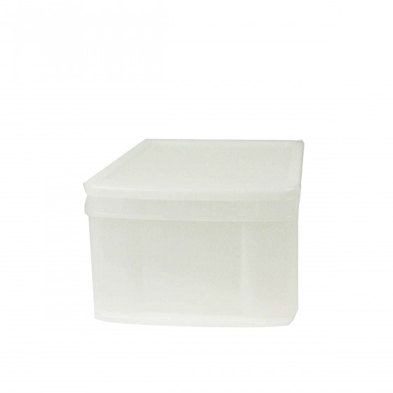 Boîte tiroir en plastique transparent. M