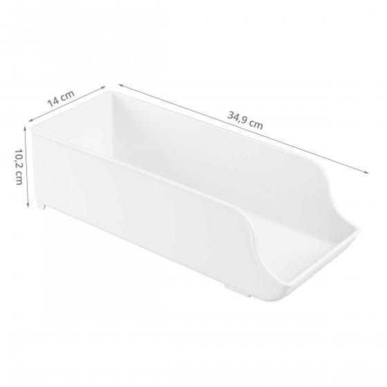 Boîte de rangement pour canettes en plastique blanc