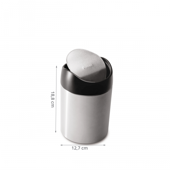 Poubelle de table en inox 1,5 litre