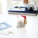 Porte cartes de visite hérisson en silicone gris
