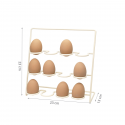 Porte œufs en métal crème pour 12 oeufs