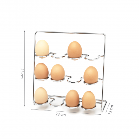 Support pour 12 œufs en métal chromé
